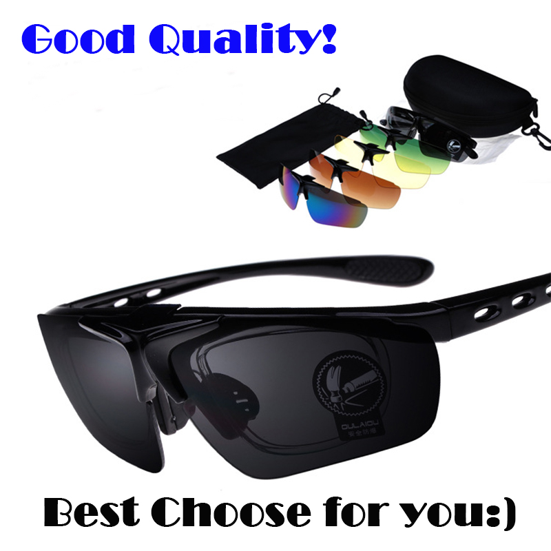 2020 New Design Fashion 9 in One Sport Sunglasses Set  Professional outdoor Goggle Eyewear free shipping sunglasses gift