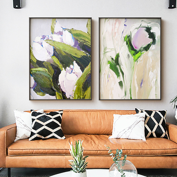 Hand-painted Oil Painting Modern Minimalist Living Room Light -style Luxury Restaurant Entrance Paintings Decorative Pai