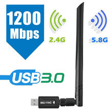 1200 Mbps Wireless USB Wifi Adapter Dongle Dual Band 2.4g/5ghz with Antenna 802.11ac Network Card Receptor Wifi