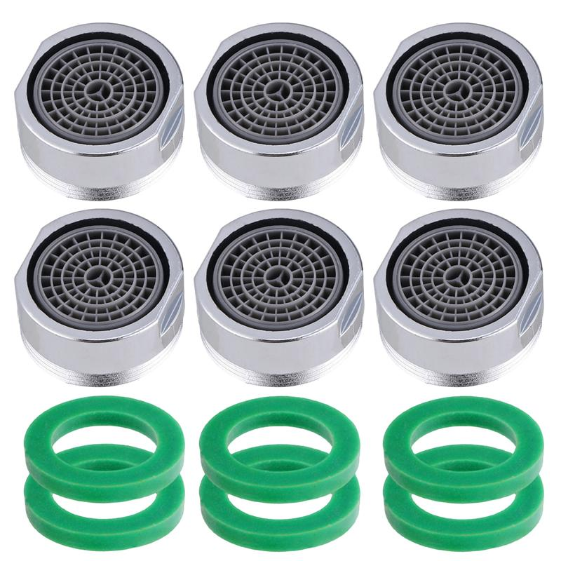 6pcs 22mm Small Threaded Plastic Aerator Faucet Bubbler Sprayer Water Saving Filter Faucet Nozzle Polished Filter For Kitchen