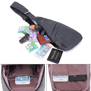 Image 2 - DIENQI Anti theft Chest Bag Male Thin Chest Pack Holster Men Bag Sling Personal Pocket Pauch Purse Man Cross Body Strap Hand Bag