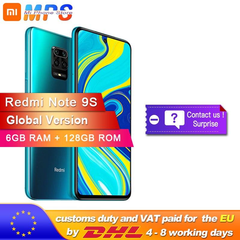 Globale Version Xiaomi Redmi Hinweis 9 S 128GB 6GB smartphone Snapdragon 720G Octa core 5020 mAh 48MP quad Kamera Hinweis 9 S