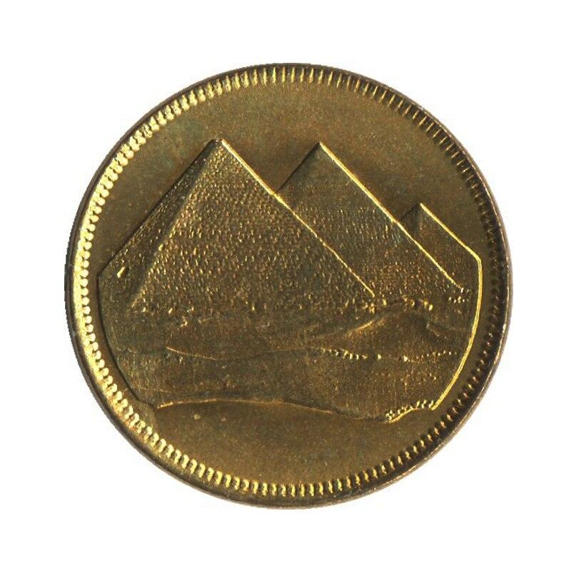 Egito 1 piastre moeda ano aleatório original 1 peça