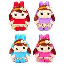Милые дети девочки 3D кукла плюшевый рюкзак мультфильм дети мини сумки для детского сада, школы подарок