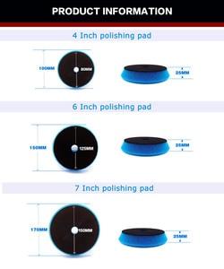 Image 3 - 4/6/7 дюймов полировальная прокладка Европейская губка различная твердость полировальная Автомобильная губка для Двойного Действия Полировщик