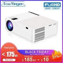 TouYinger M18 Máy Chiếu Full HD, Bản Địa 1080P 5500Lumen , Android Tùy Chọn, đèn LED Video Máy Chiếu Gia Đình Phim Full HD Beamer