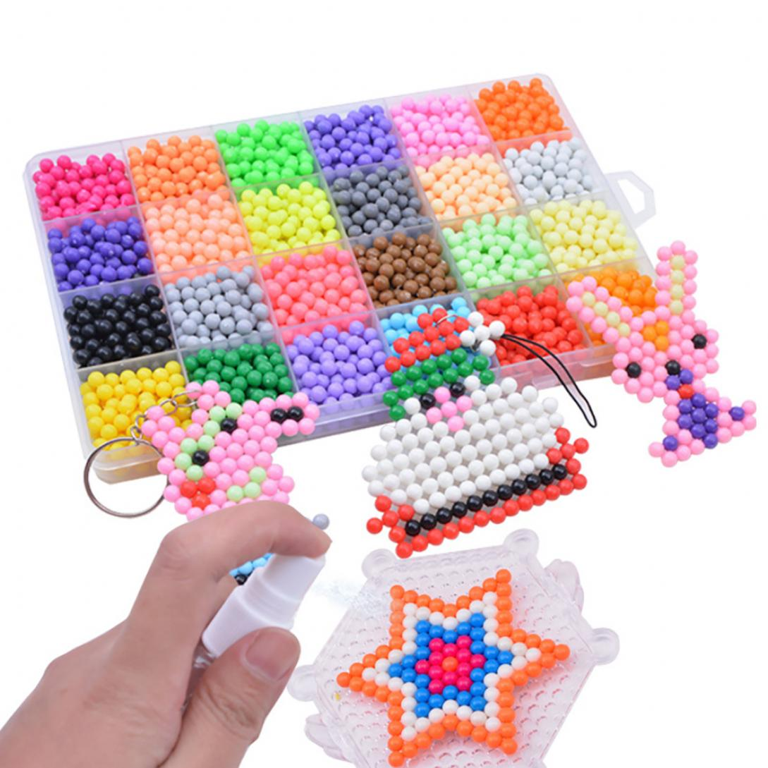 10/15/24 Grids Magic Water Sticky Beads Refill Accessories Art Crafts Kids Learning Toys For Children Handmade Diy 3 5 7 8 Years