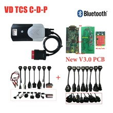 2020 VD TCS CDP 2016R0 генератор ключей с bluetooth V3 V3.0 pcb vd ds150e cdp для delicht obd obd2 Автомобильный сканер + 8 шт. кабелей для автомобилей/грузовиков