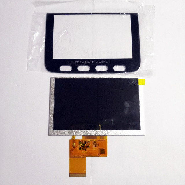 Kostenloser Versand Signal Feuer AI 9 AI 8 AI 7 Fusion Splicer LCD Screen Display Glas Abdeckung Signalfire AI 9 8 8C 7 7C