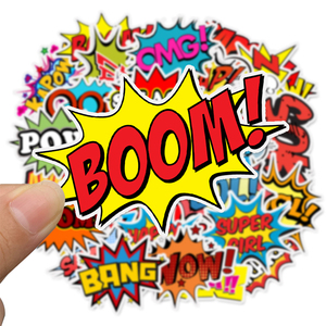 Image 2 - 어린이위한 50 pcs 팝 스타일 buzzword 스티커 장난감 diy 스크랩북 노트북 가방 자전거 스티커 가제트 선물에 크리 에이 티브 텍스트