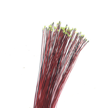 50pcs/lot 0402 0603 0805 1206 Led SMD Wire For Model Train HO N OO Scale Red Black Line Pre-soldered Micro Litz Diorama Railway 30pcs model railway train lamp led 3v street lamppost 7cm ho oo scale for park scenery decoration