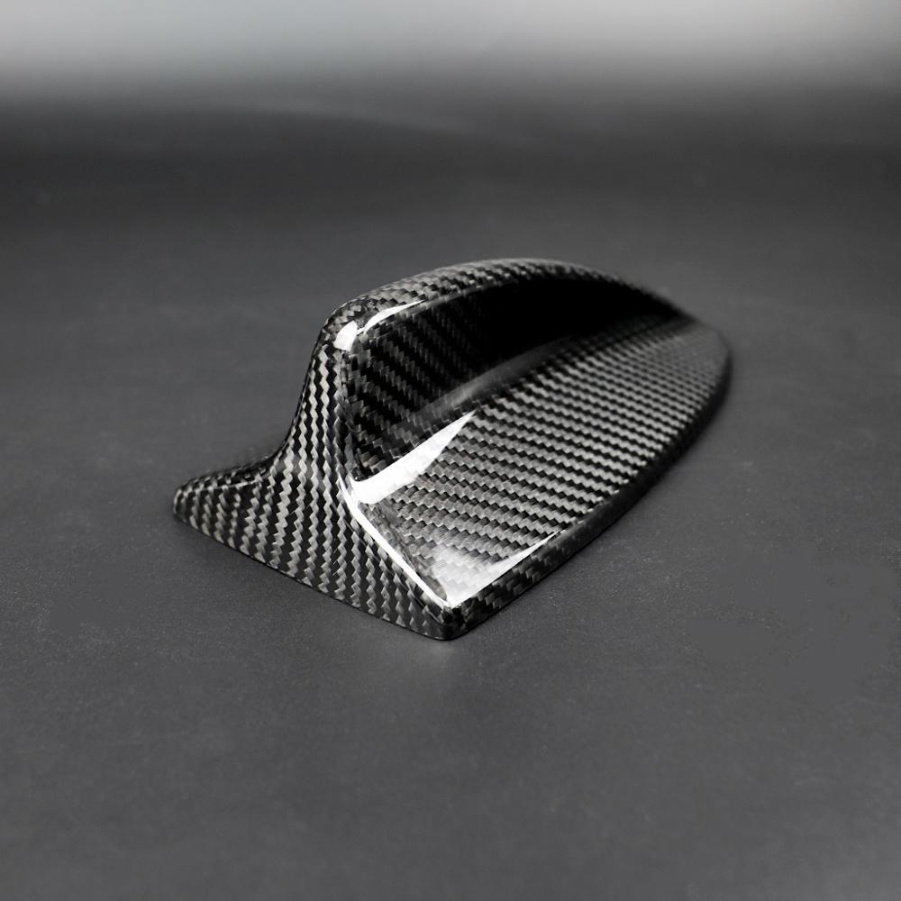 Car Carbon Fiber Antenna Shark Fin Cover Trim Auto Roof Decorative Antenna For BMW E46 E60 E61 E90 E92 M3 Car Accessories