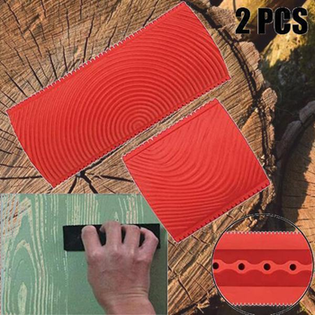 Wood Graining DIY Tool Set Imitation Wood Graining Pattern Wall Texture Art DIY Rubber Wood Grain Painting Tool Home Decoration