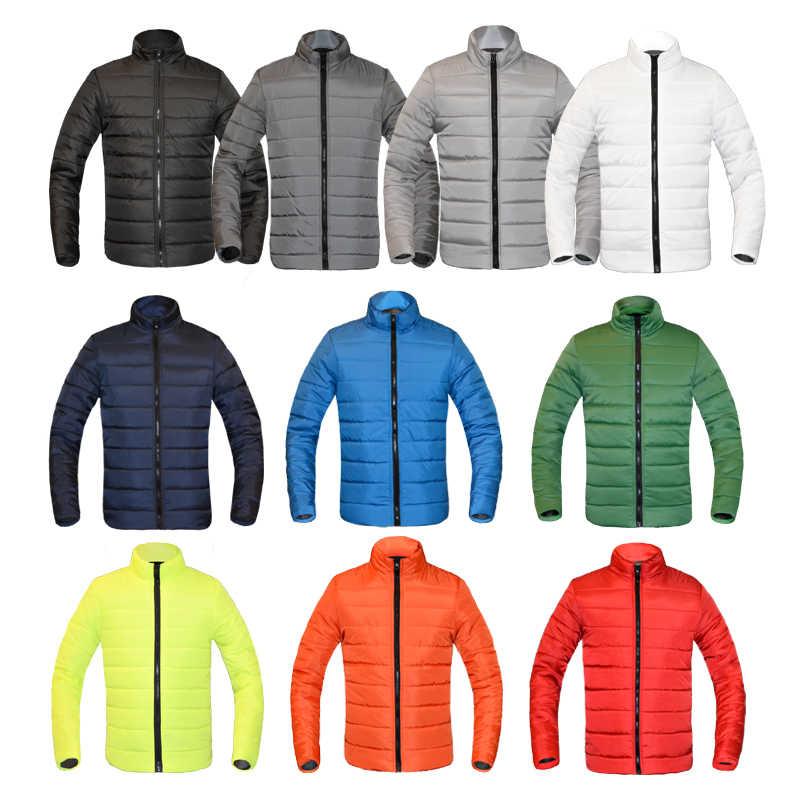 冬のジャケットの男性 2019 ファッションスタンド襟男性パーカージャケットメンズ固体厚手のジャケットとコートの男冬パーカー