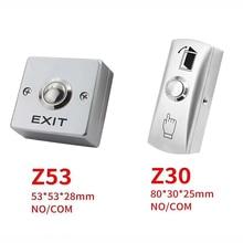 Exit-Switch Opener Door-Access-Control-System Release for Entry-Door Zinc-Alloy DC12V