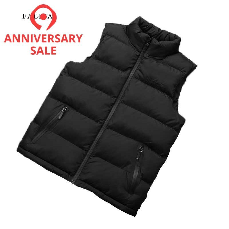 FALIZA New Autumn Men Vest Sleeveless Jacket Men Winter Waistcoat Men's Vest Fashion Casual Coats Mens Plus Size 8XL MJ108