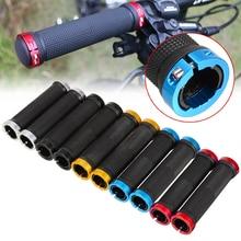 цена на 1 Pair Bicycle Handlebar Grips Cover MTB Mountain Bicycle Handlebar Grips Lock-on Fixed Gear Rubber Bike Grips Cycling Parts