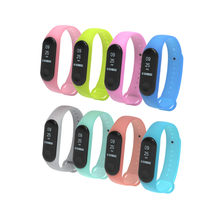 HIPERDEAL 2020 For XIAOMI MI Band 4/3 Durable and not easy to fade New Luminous Silicon Soft Wrist Strap WristBand Replacement(China)