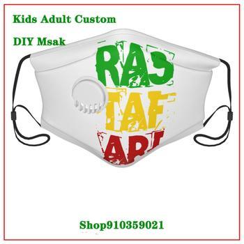 High Quality Rastafari Ladies white valve mask DIY masque de protection lavable washable reusable face mask adult