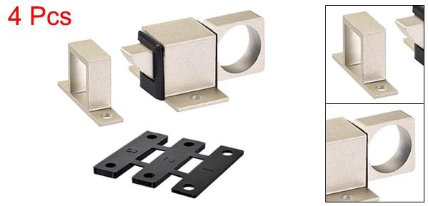 Khaki 4 Pcs uxcell/® Door Bolt Latch Aluminum Alloy Security Automatic Window Gate Spring Bounce Lock