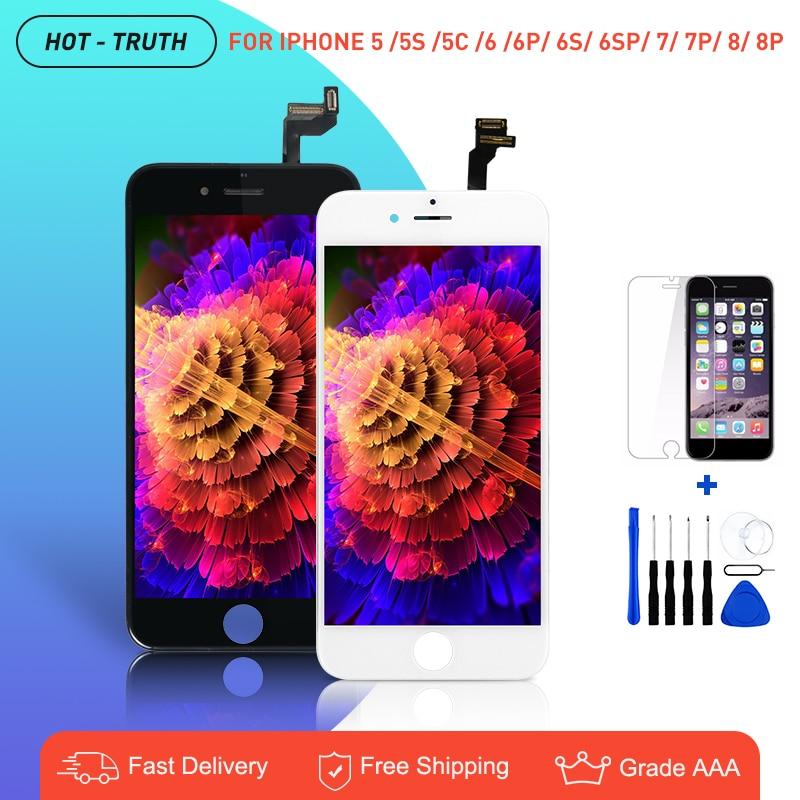 10 шт./лот OEM дисплей для iPhone 6 6g 6S AAA +++ Замена ЖК-экрана для iPhone 7 8 5 5S 5C детали 3D сенсорный дигитайзер в сборе