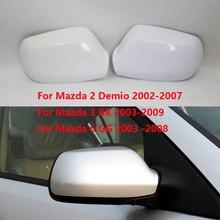 รถด้านหลังดูกระจกฝาครอบสำหรับMAZDA 2 Demio 2002 2007 สำหรับมาสด้า 3 BK 2003 2009 สำหรับMAZDA 6 GG 2003  2008