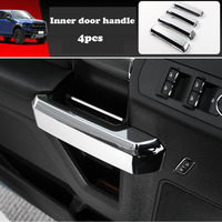 4pcs ABS Chrome Car Interior Door Handle Cover Trim Sticker For Ford F150 F 150 2015 2019 Accessories Car Accessories