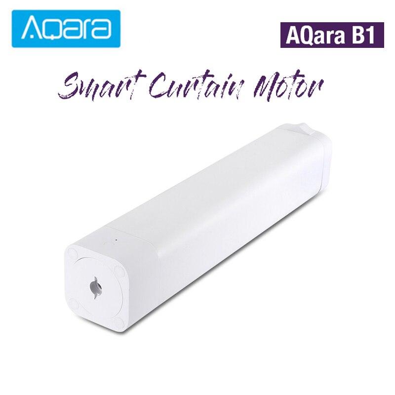 Original aqara b1 motor de cortina elétrica motorizada inteligente sem fio 12 cm/s wifi/voz/app controle inteligente uma-chave casa kits 3030 mah