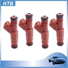 مجموعة 4x حاقن وقود 0280155759 9454556 ل فولفو دودج أودي V-W G40 G60 1.8T توربو 2.3L 0 280 155 759 1275395 سيارة محركات