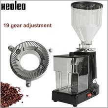 Электрическая кофемолка XEOLEO, Турецкая кофемолка, кофемолка, плоская кофемолка, эспрессо, черная/красная