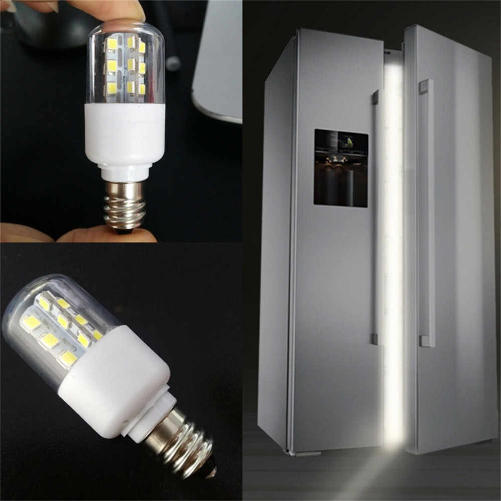 E14 E12 LED Crystal Lamp Light SMD 5050 3W Microwave Oven Light Bulb Freezer Lamp Cold / Warm White AC 110V 220V