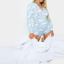 Пикантный женский домашний пижамный комплект с длинным рукавом