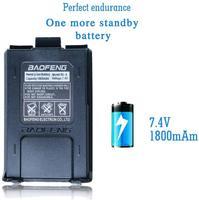 """מכשיר הקשר Baofeng מכשיר הקשר UV-5R Ham Dual-Band שני הדרך VHF / UHF CB רדיו 5 וואט 1800mAh Li-ion סוללה Waterproof, מקמ""""ש (3)"""