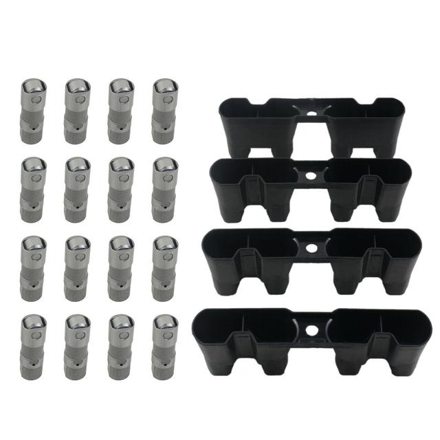 AP02 LS7 LS3 LS2 16× Performance Hydraulic Roller Lifters & 4× Guides Set For GM 12499225