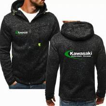Брендовые зимние Мотокросс гоночная мотоциклетная одежда для kawasaki пуловер с рыцарем пальто Kawasaki кошачьих ушек; повседневные толстовки с капюшоном и H