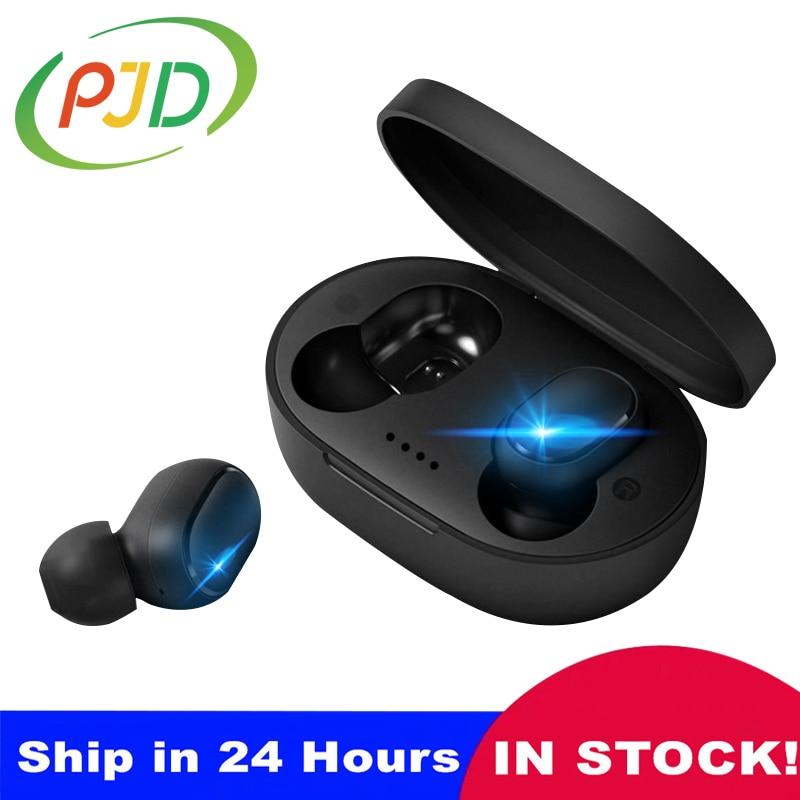 PJD наушники-вкладыши TWS беспроводной Bluetooth 5,0 наушники мини вкладыши для Redmi с зарядным устройством Mic Спортивные Bluetooth наушники для телефона ...