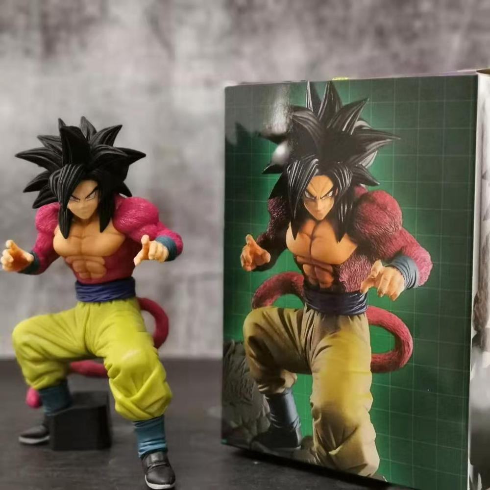 Dragon Ball Z Son Goku Super Saiyan 4 PVC Action Figures Toy Anime Dragon Ball GT Dokkan Battle 4th Anniversary DBZ Figurine