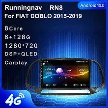 אנדרואיד 10.1 עבור פיאט Doblo 2015 2019 מולטימדיה סטריאו DVD לרכב נגן ניווט GPS רדיו 2 דין