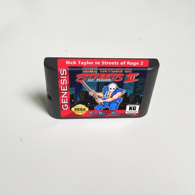 Rick taylor em ruas de raiva 2   16 bit cartão de jogo md para sega megadrive genesis vídeo game console cartucho