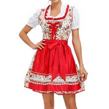 LASPERAL Orang Dewasa Wanita Jerman Bavaria Dirndl Dress Oktoberfest Tradisional Bir Gadis Kostum Pesta Halloween Pembantu Fancy Dress(China)