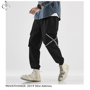 Image 4 - Privathinker Men Casual Army Green Cotton Cargo Pants Mens 2020 Autumn Street Style Joggers Male Hip Hop Pockets Oversize Pants