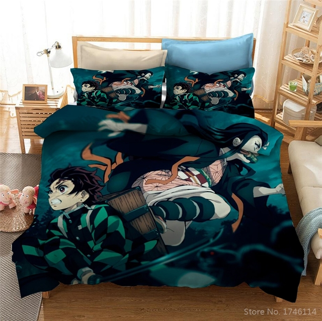 DEMON SLAYER THEMED 3D BEDDING SET (12 VARIAN)