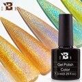 BOZLIN 7,3 мл голографический (гель-Маникюр) с системой Soak Off Блеск УФ/светодиодный Гель-лак для ногтей Лазерная красочные супер блестящие маникю...