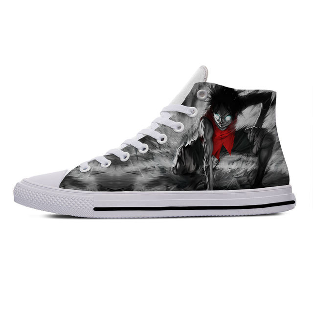 ONE PIECE THEMED HIGH TOP SHOES