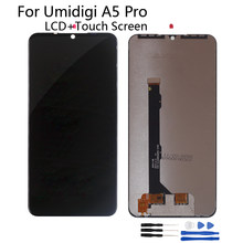 Original For UMI UMIDIGI A5 PRO LCD Display Touch Screen Assembly Phone Parts For UMIDIGI A5 PRO Screen LCD Display Free Tools