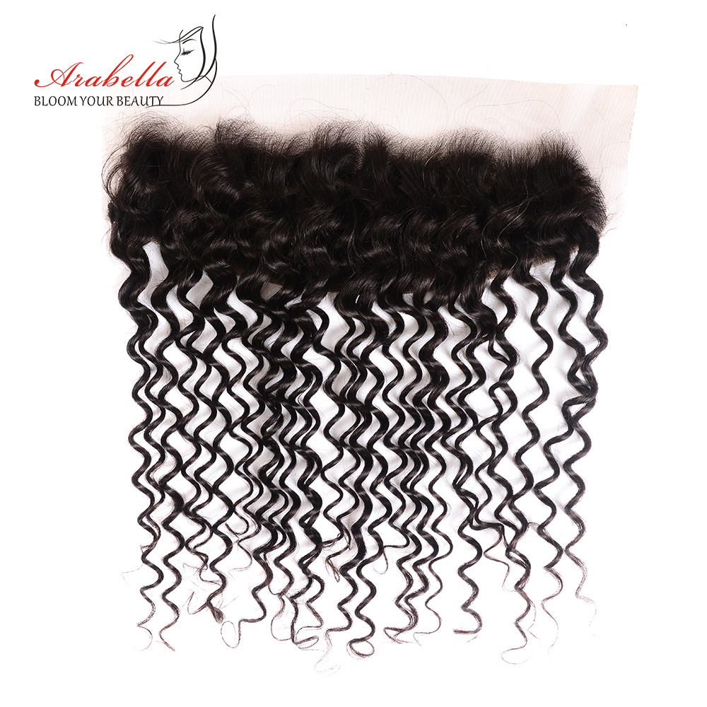 13x4 Lace Frontal Deep Wave Ear To Ear With Baby Hair  Arabella PrePlucked Bleached Knots Lace Frontal Closure 2