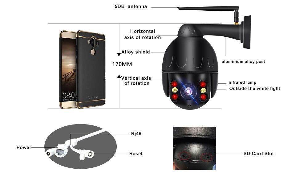 em casa ip 5x zoom óptico velocidade dome câmera p2p cctv câmera