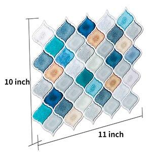 250 250mm Waterproof Removable Vinyl Bathroom Wall Tile Decals Sticker Lantern Arabesque Design White Blue Wall Stickers Aliexpress