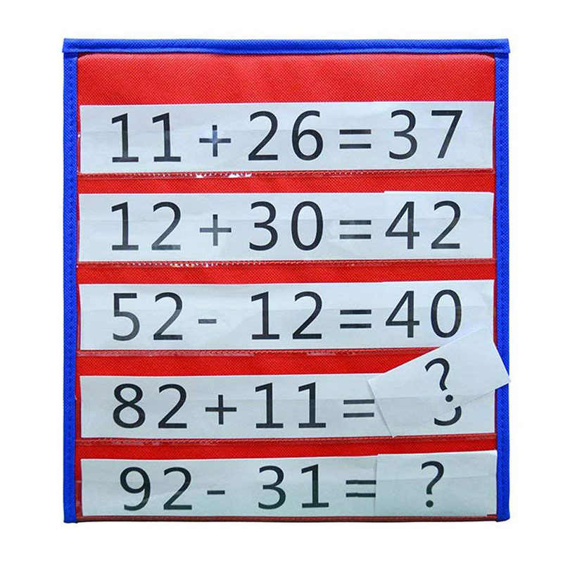 Desktop Pocket Chart Teaching Double-sided Self-standing Foladble For Classroom FEA889