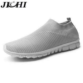 JICHI Men Shoes Lightweight Breathable Summer Men Sneakers Comfort Non-slip Men Casual Shoes Summer Size 47 Zapatillas Hombre